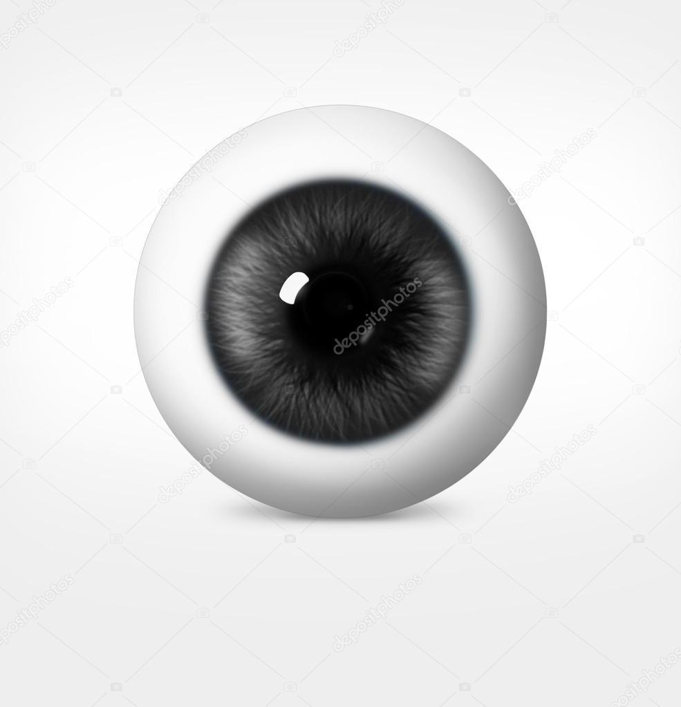 3D Auge des Mannes auf weißem Hintergrund — Stockfoto © chekman1 ...