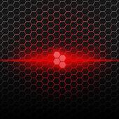 Rot-Muster mit Sechsecken