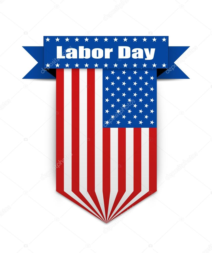Color flag on the Labor day.