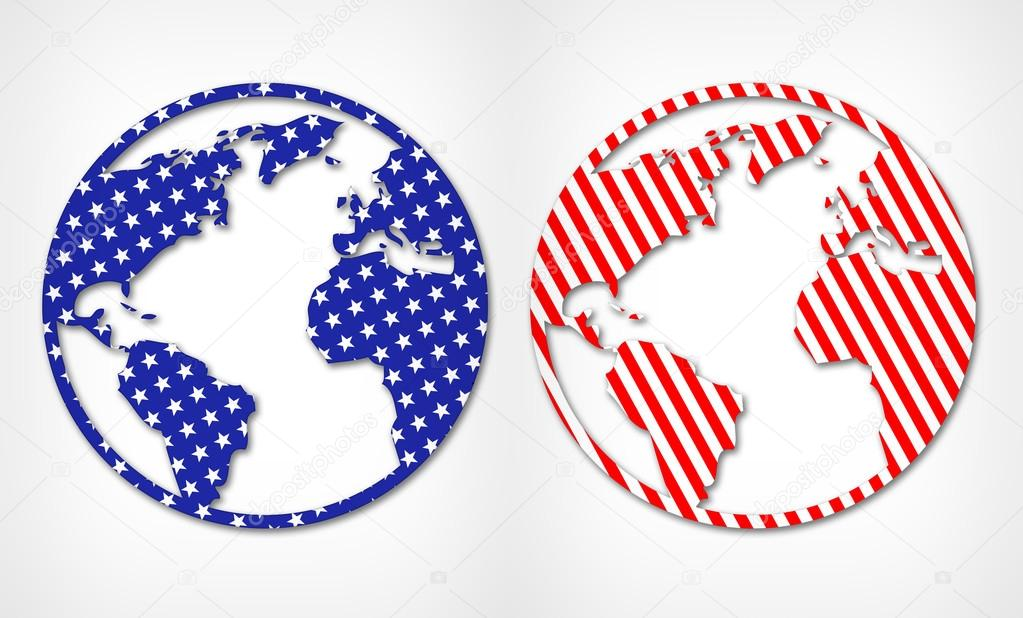 Abstract world map isolated foto de stock chekman1 91463492 abstract world map isolated on light background world map in the style of the american flag foto de chekman1 gumiabroncs Images