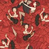 Photo Pattern with flamenco dancers