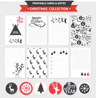 Merry Christmas printable set.