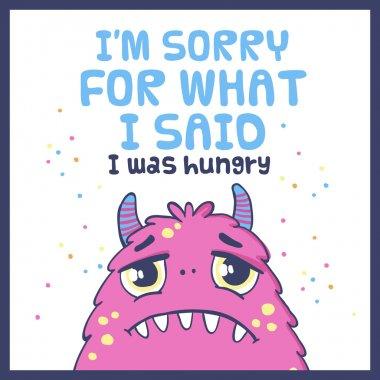 Cute monster card.