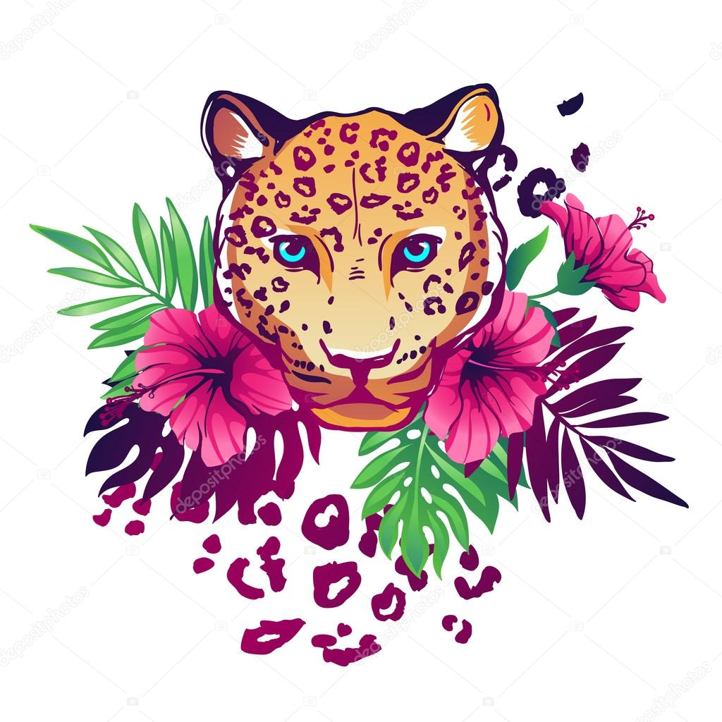 Tropical vector illustration.