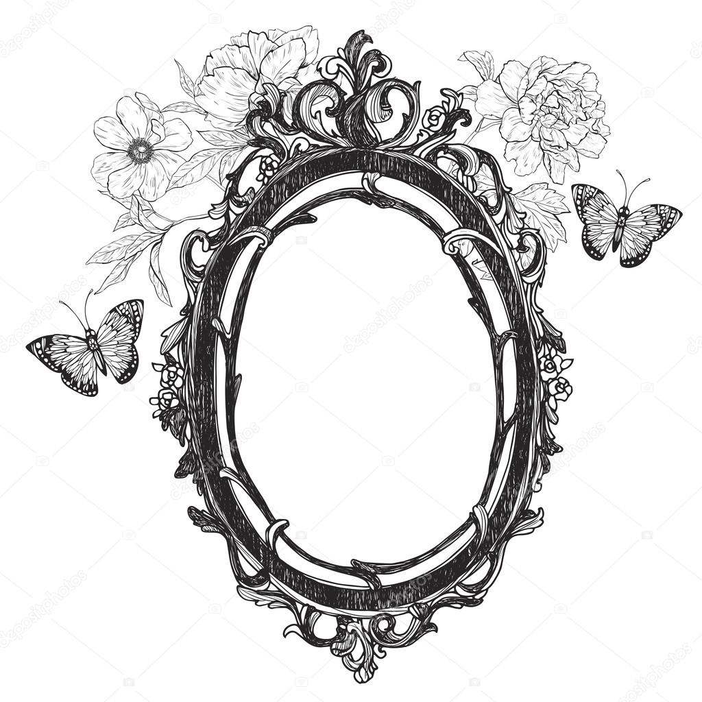 Vintage hand drawn vector frame.