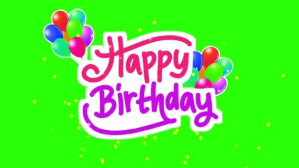 Boldog születésnapot a zöld képernyőn