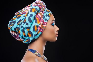 African woman wearing headscarf