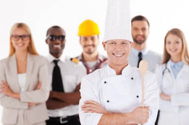 Confident male chef in uniform