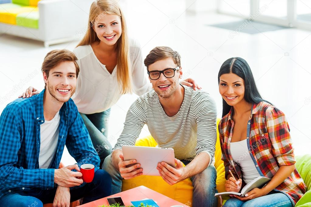Young People Working Together Stock Photo Gstockstudio 78995630