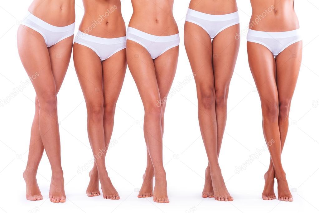 Women showing their panties