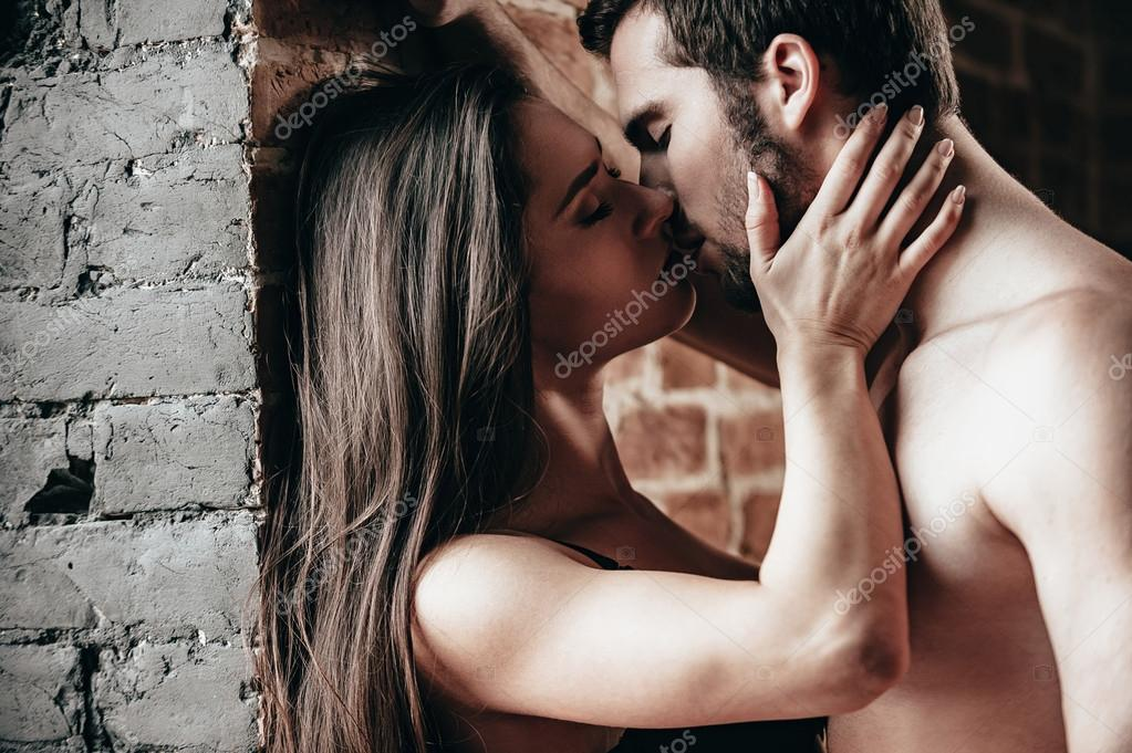 Passionate couple in love