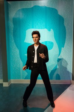 Elvis Presley wax figure