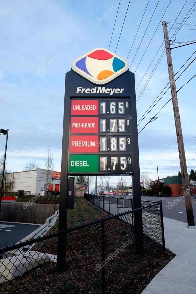 Gas Prices Oregon >> Low Gas Prices At Fred Meyer Fuel Station In Portland Oregon