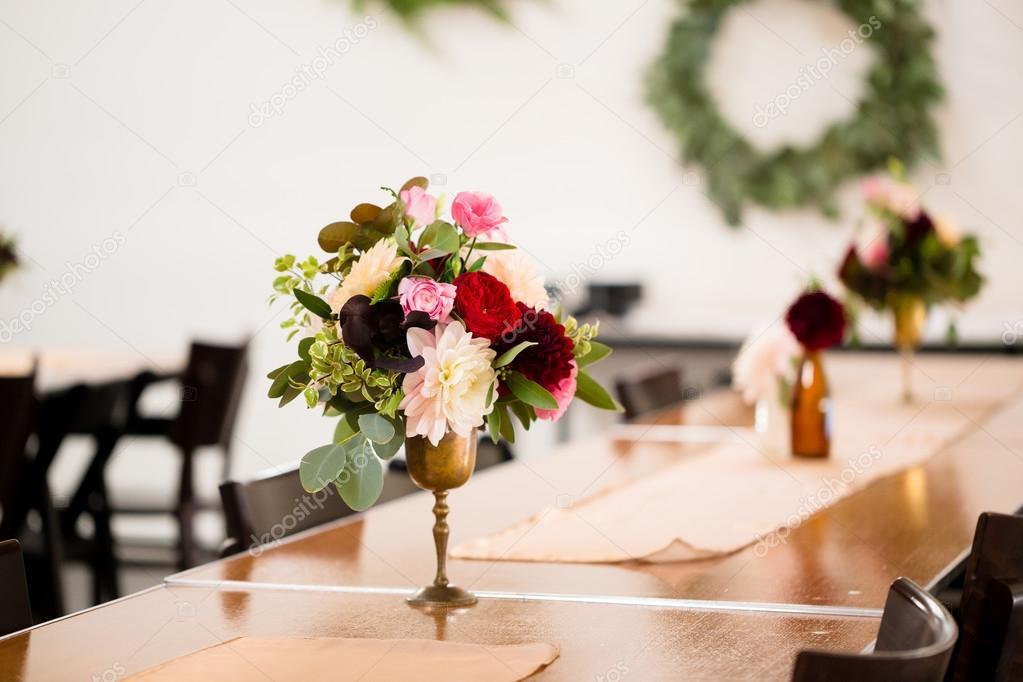 Wedding Flowers In Bottles Stock Photo Joshuarainey 104506874