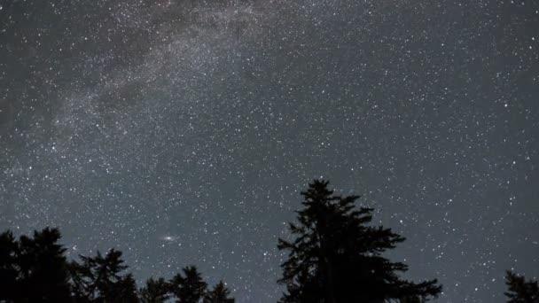 Hvězdnou oblohu Mléčné dráhy časová prodleva