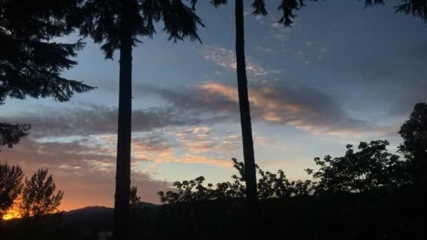 Naplemente Timelapse felhők Oregon