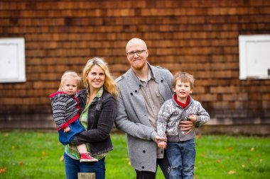 American Family of Four Lifestyle Portrait