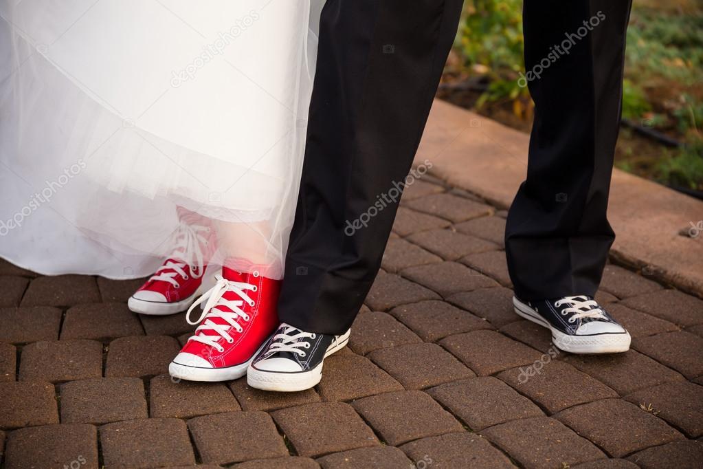 e3123b1849a65c Bride and Groom Wear Converse – Stock Editorial Photo © joshuarainey ...