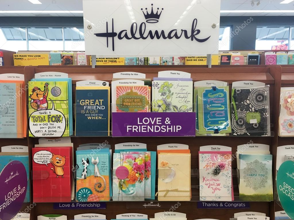 Hallmark Greeting Cards At Grocery Store Stock Photo