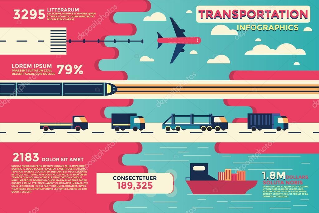 Transportation Infographics,vector,illustration.