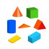 Dětské hračky, bloky, návrháře. Vektorové ilustrace