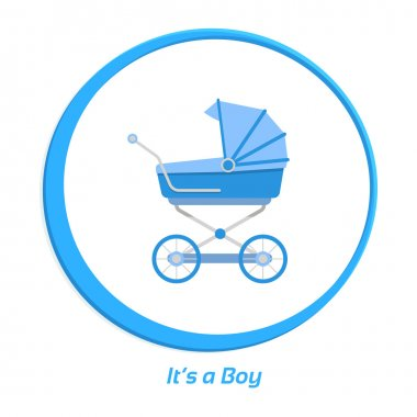Its a boy. Flat vector illustration for your design.