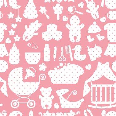 Newborn Baby boy seamless pattern with Polka dot