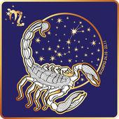 Fotografia Segno dello zodiaco Horoscope.Scorpio