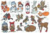 Fotografie Weihnachten-Tiere-set