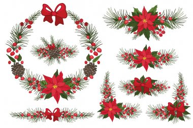 Merry Christmas and New Year Wreaths