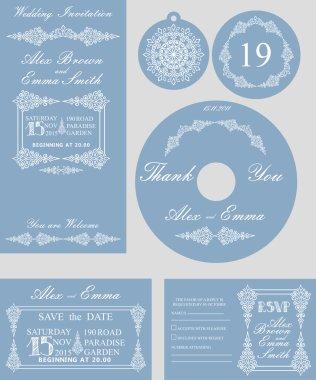 Winter wedding template set