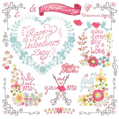 Floral hearts card
