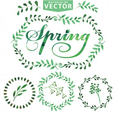 Watercolor Spring template