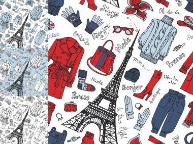 Paris Fashion Clothing pattern