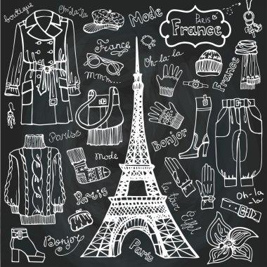 Paris style Fashion clothing set.