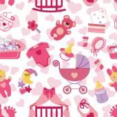 Fotografie Neugeborene Baby Mädchen nahtlose Muster