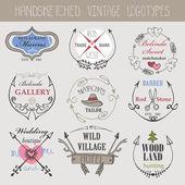 Soubor šablony Vintage logotypy