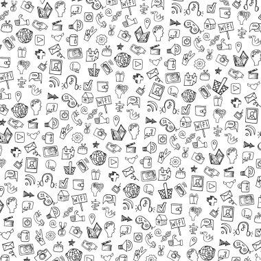 Social Media Icons pattern,