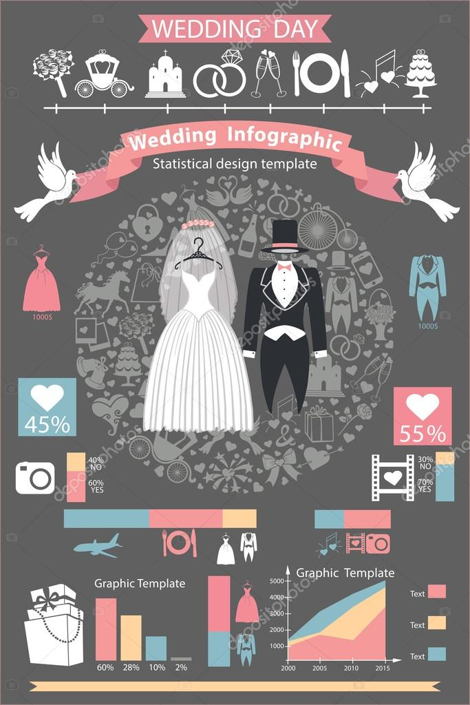 Wedding infographics set.