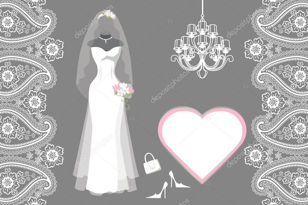 Braut brautkleid mit Rahmen — Stockfoto © Tatiana_Kost #73862443