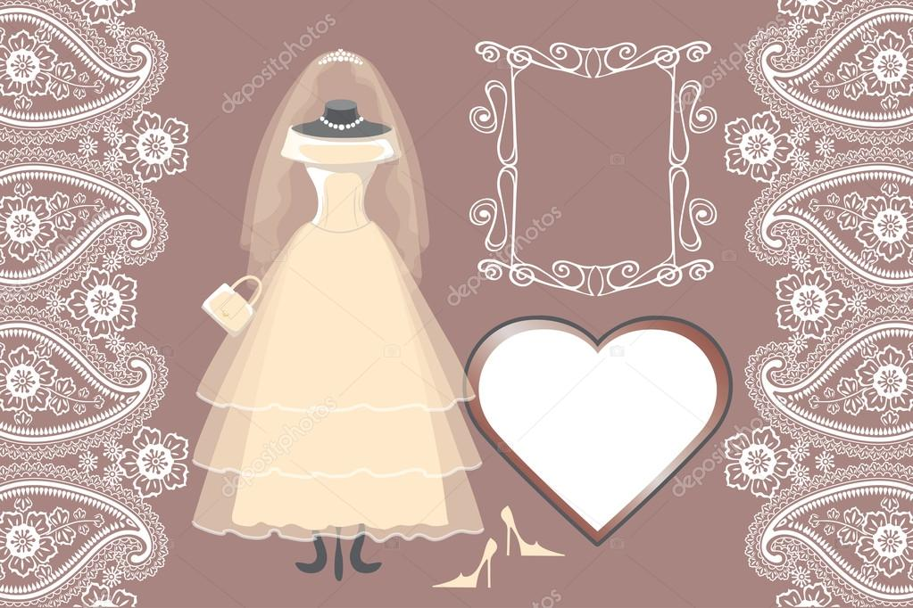 Braut brautkleid mit Rahmen — Stockfoto © Tatiana_Kost #73862447
