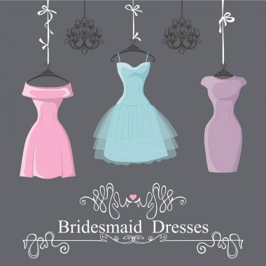Three short bridesmaid dresses