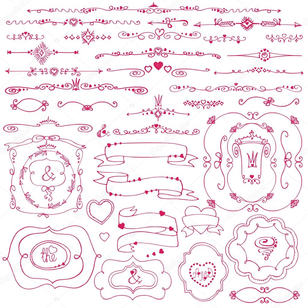 Doodle, frontera, marco, cintas — Fotos de Stock © Tatiana_Kost ...