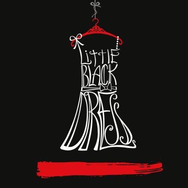 Silhouette of  little black dress