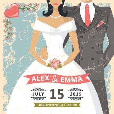 Retro wedding invitation.