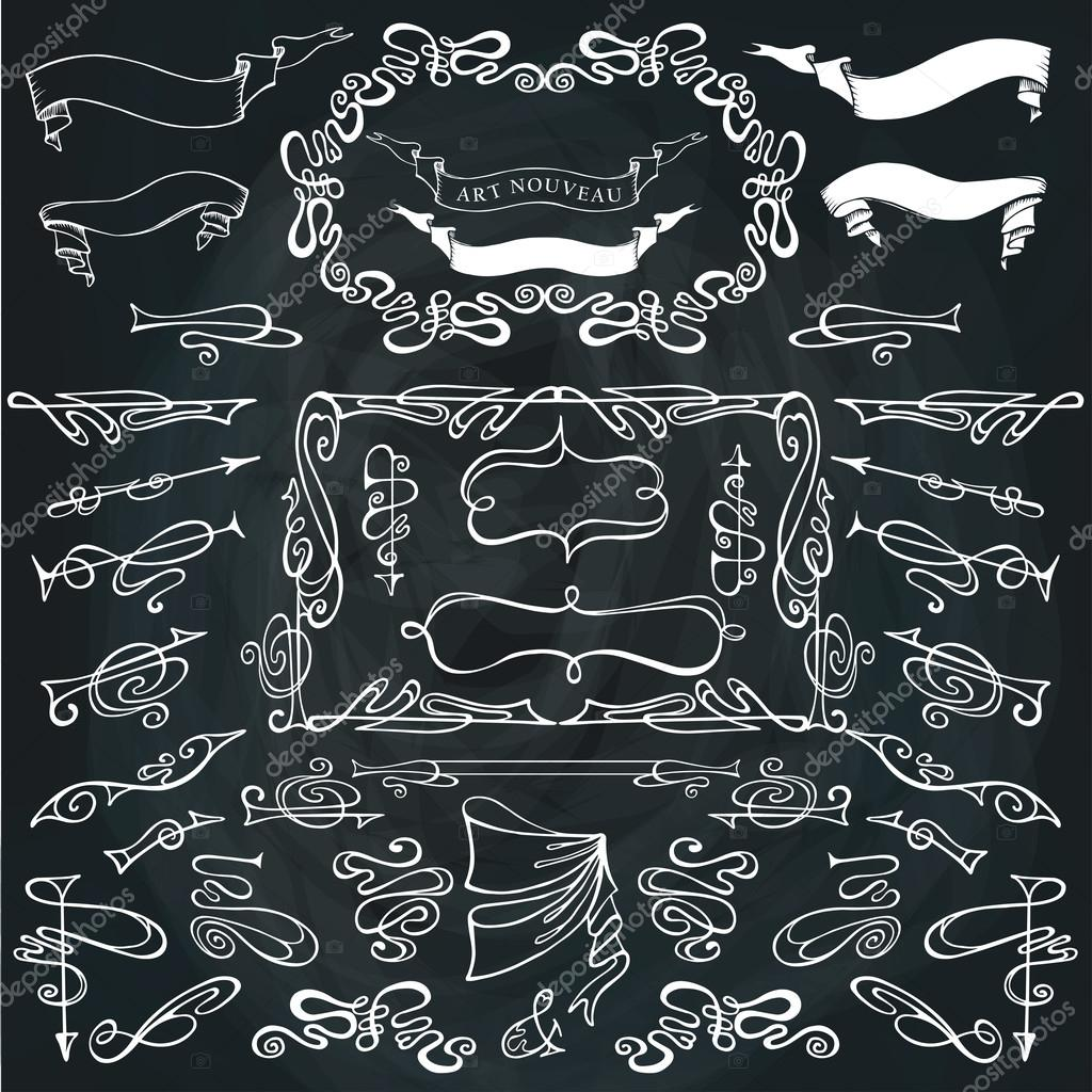 Wirbelnden kalligraphische Ränder, Rahmen — Stockfoto © Tatiana_Kost ...