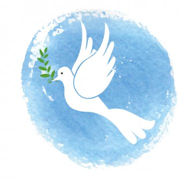 Peace day symbol ,White pigeon