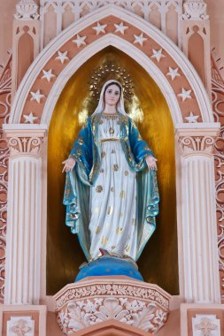 Virgin Mary Statue in Roman Catholic Church at Chanthaburi Provi