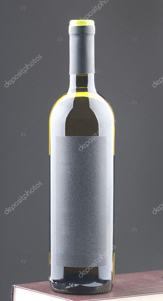 Bouteille Vin Blanc Avec étiquette Vierge Format Vertical