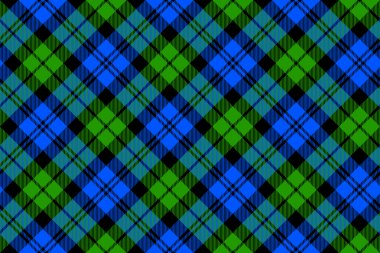 Black Watch milytary tartan diagonal seamless .Vector illustration. EPS 10. No transparency. No gradients. stock vector